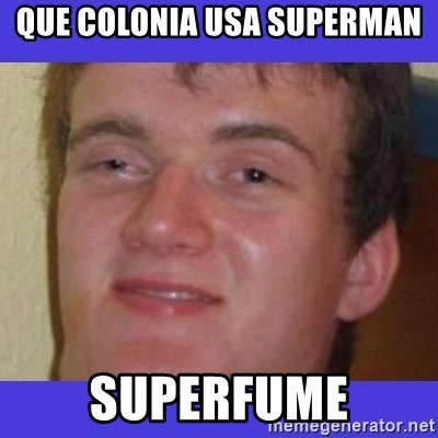 rally drunk guy - que colonia usa superman superfume