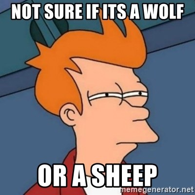Not sure if troll - not sure if its a wolf or a sheep