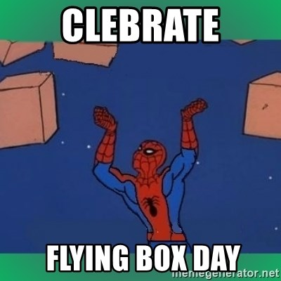 60's spiderman - clebrate  flying box day