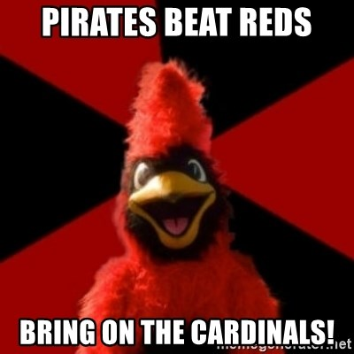 Wesleyan Cardinal - Pirates beat reds bring on the cardinals!