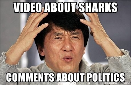 Jackie Chan - Video about sharks Comments about politics