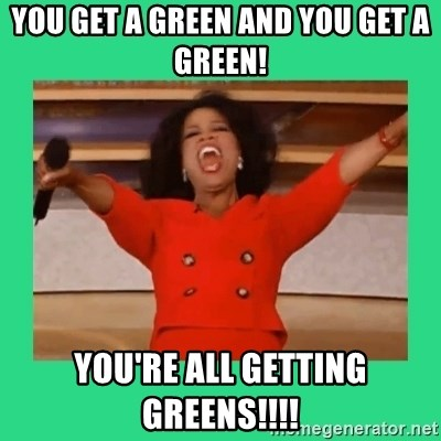 Oprah Car - YOU GET A GREEN AND YOU GET A GREEN! YOU'RE ALL GETTING GREENS!!!!