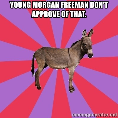 Jackass Drum Major - YOUNG MORGAN FREEMAN DON'T APPROVE OF THAT.