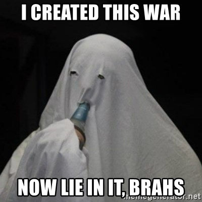 Poverty Ghost - I created this war Now lie in it, brahs