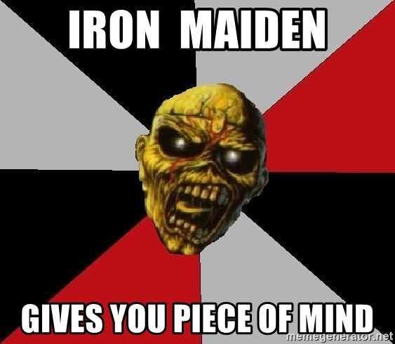 Eddie the Head - iron  maiden gives you piece of mind