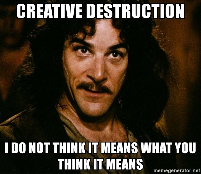 Inigo Montoya - Creative Destruction I do not think it means what you think it means