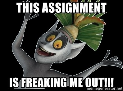 King Julian Madagascar - This Assignment is Freaking Me Out!!!