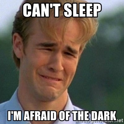 Crying Dawson - can't sleep I'm afraid of the dark