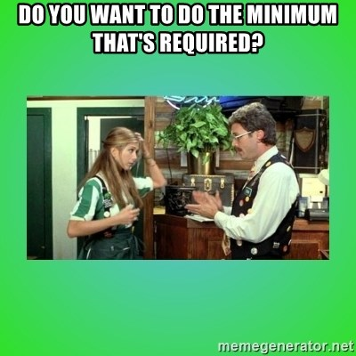 Office Space Flair - Do you want to do the minimum that's required?