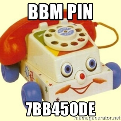 Sinister Phone - BBM PIN 7bb45ode