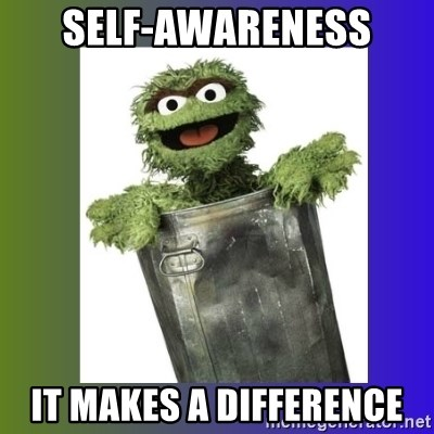 Oscar the Grouch - Self-awareness It makes a difference
