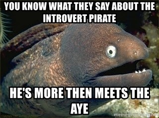 Bad Joke Eel v2.0 - You know what they say about the introvert pirate He's more then meets the aye