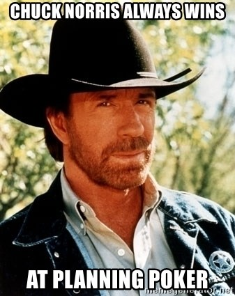 Chuck Norris Pwns - Chuck Norris always wins at Planning Poker
