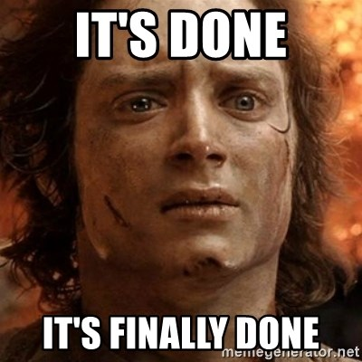 frodo it's over - It's done it's finally done