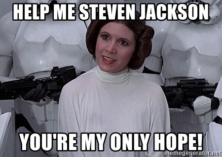 princess leia - Help me Steven Jackson You're my only Hope!