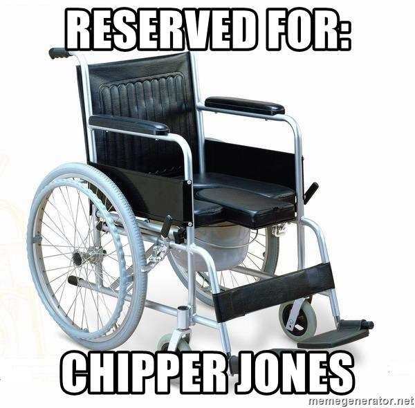 wheelchair watchout - Reserved for: Chipper Jones