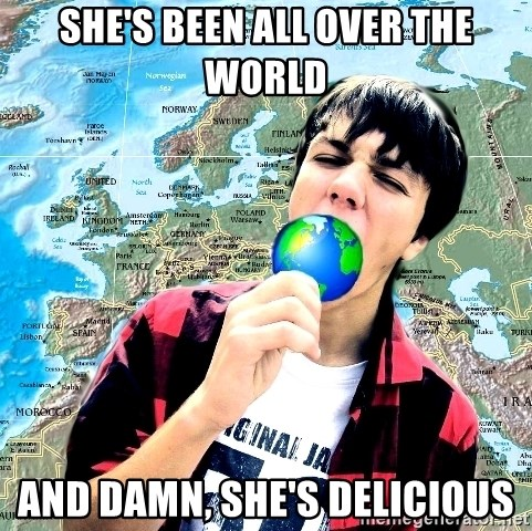 CRAZY_GEOGRAPHY - she's been all over the world and damn, she's delicious