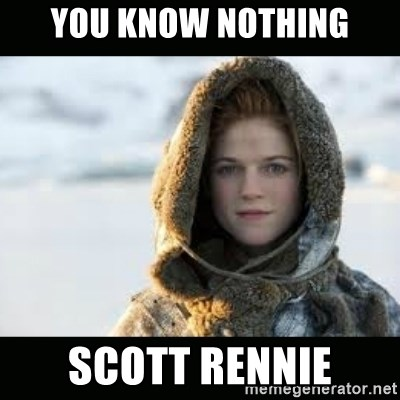 Ygritte - You know nothing Scott Rennie