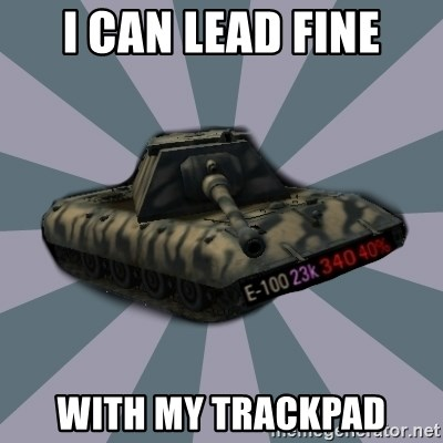 TERRIBLE E-100 DRIVER - I can lead fine with my trackpad