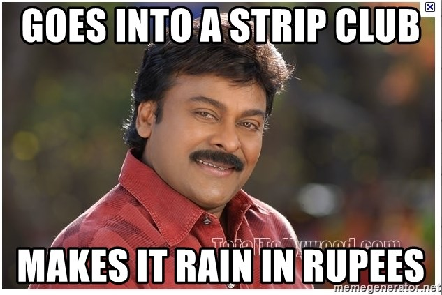 Typical Indian guy - Goes into a strip club  Makes it rain in rupees