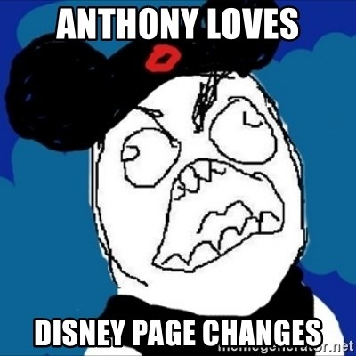 runDisney Rage - Anthony loves Disney page changes