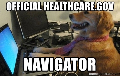 I have no idea what I'm doing - Dog with Tie - Official Healthcare.gov Navigator