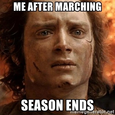 frodo it's over - Me after marching Season ends