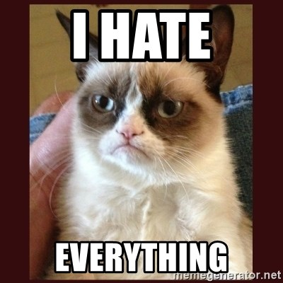 Tard the Grumpy Cat - I hate Everything