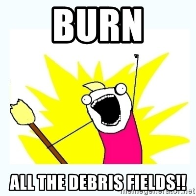 All the things - Burn All the debris fields!!