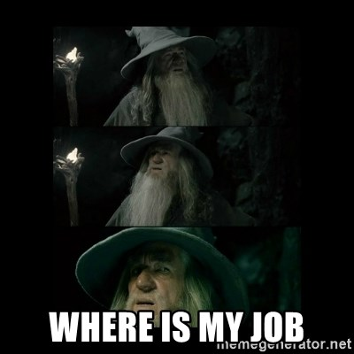 Confused Gandalf -  WHERE IS MY JOB