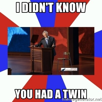 Invisible Obama - I didn't know you had a twin