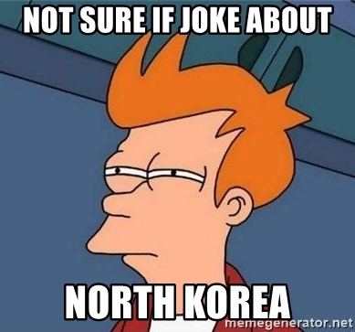 Unsure Fry (Inverted and narrow) - Not sure if joke about north korea