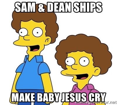 Rod & Todd Flanders - Sam & Dean ships make Baby Jesus cry