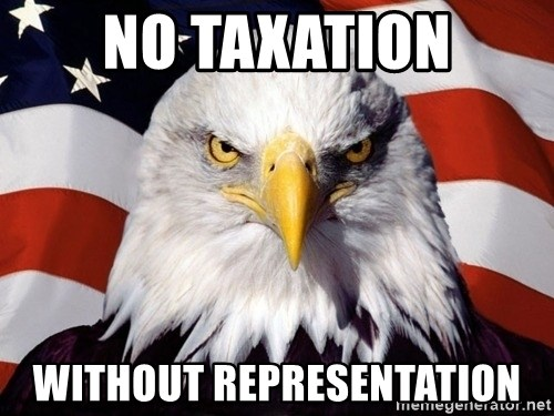 American Pride Eagle - no taxation without representation