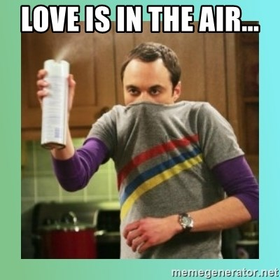 Sheldon Cooper spray can - Love is in the air...