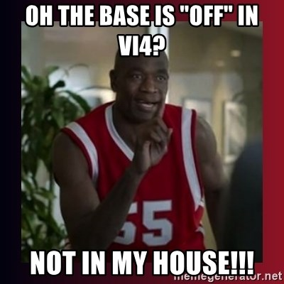"Dikembe Mutombo - Oh the Base is ""OFF"" in Vi4? Not in my house!!!"
