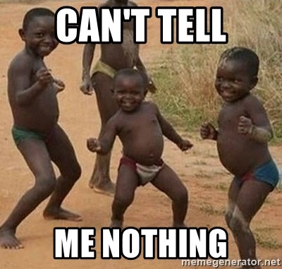 Dancing african boy - Can't tell Me nothing