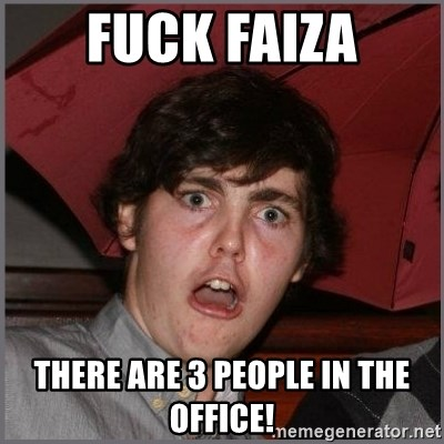 Shocked Dylan - FUck Faiza There are 3 people in the office!