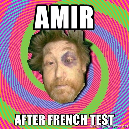 Russian Boozer - amir after french test