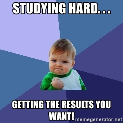 Success Kid - studying hard. . . getting the results you want!