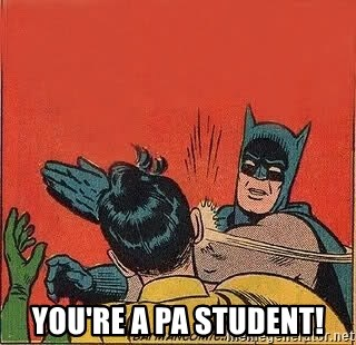 batman slap robin -  You're a PA Student!