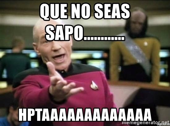 Why the fuck - que no seas sapo............  hptaaaaaaaaaaaaa