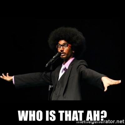 AFRO Knows -  who is that ah?
