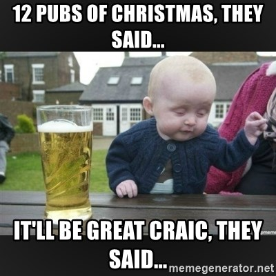 12 Pubs Of Christmas They Said Itll Be Great Craic They Said
