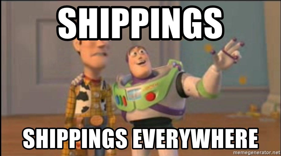 X, X Everywhere  - Shippings Shippings everywhere