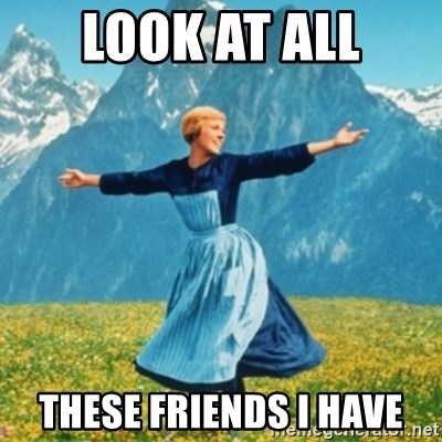 Sound Of Music Lady - Look at all these friends i have