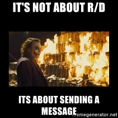 Joker's Message - It's not about R/D Its about sending a message