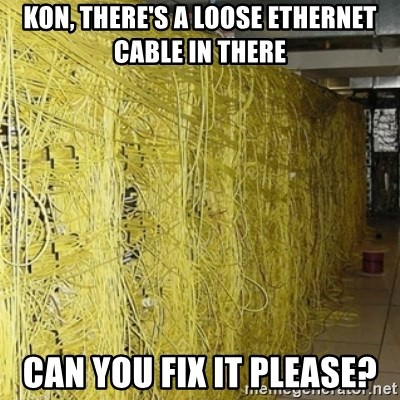 fix loose ethernet cable