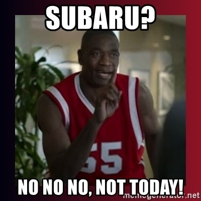 Dikembe Mutombo - Subaru? No no no, not today!