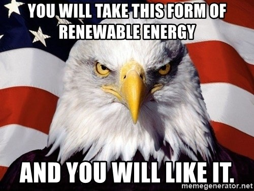 American Pride Eagle - You will take this form of renewable energy And you will like it.